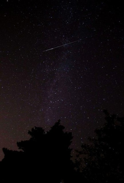 The Perseid meteor shower is sparked every August when the Earth passes through a stream of space debris left by comet Swift-Tuttle. (Photo: Darren Wood/Twitter)