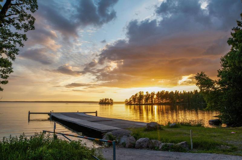 Sunset-over-a-Swedish-Lake