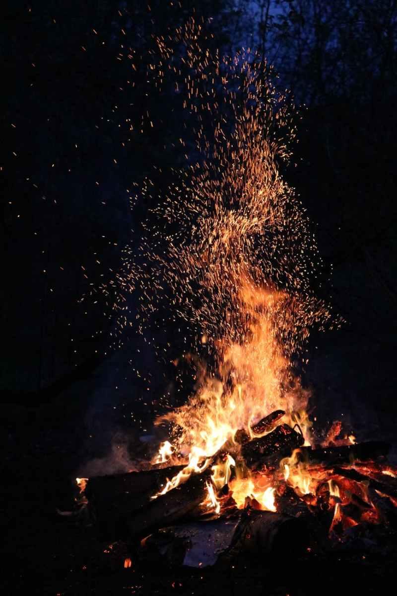 ash blaze bonfire burn